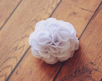 White Hair Clip,Flower Girl, Mini Flower, Small Flower, Bridal Hair Piece, Bridesmaid, Hair Flower, Baby Hairclip, Girl Hair Flower, Toddler