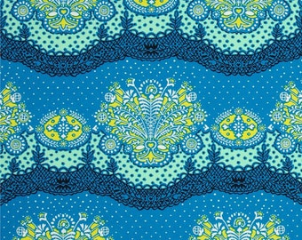 Lark by Amy Butler - Nanna Chic - PWAB079, Cobalt Blue  - 1/2 yard cotton quilt fabric 516