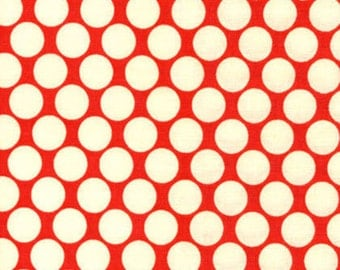 Lotus by Amy Butler for Rowan Fabrics - Full Moon Polka Dot - Cherry - Red - FQ - Fat Quarter - Cotton Quilt Fabric   816