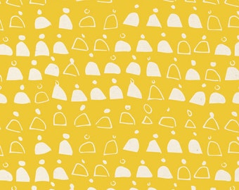 Swell in Gold - Rain Walk (Canvas) - Anna Graham - Cloud 9 Fabrics - Organic Cotton - 1 Yard