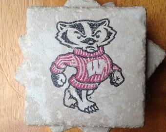 University of Wisconsin Drink Coasters Set of 4