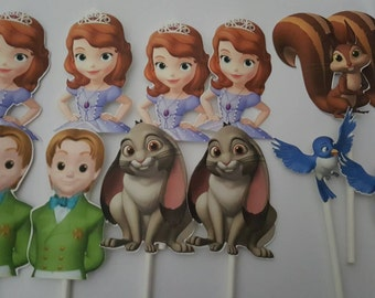 12 Sophia the first James and friends cupcake toppers