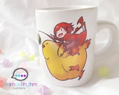 Mini Ceramic Mug: RWBY Ruby Rose on FF Fat Chocobo Crossover featured image