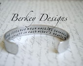 Sister Gift / Time and distance mean nothing between Sisters Secret Message Cuff Bracelet