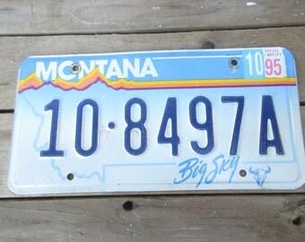 Montana License Plate/Vintage Montana Metal Car Art/Retro Metal Car Plate