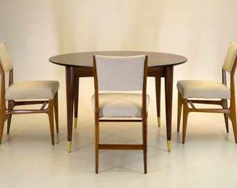Gio Ponti Dining Table and 4 Chairs 1951 vintage mid century modern italian