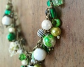 St Patricks Day  Charm Necklace