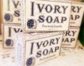 Vintage Ivory Soap Bars, Sealed Large Size Blue and White Moon and Stars