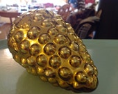 Extra Large Vintage Gold Grape Cluster Kugel Style Ornaments 4 Available