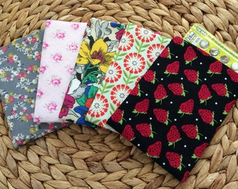 Birth Control Pill Sleeve - Pill Cover Travel Accessory - Floral Fabric Birth Control Pouch - Feminine Discreet Pill Cover