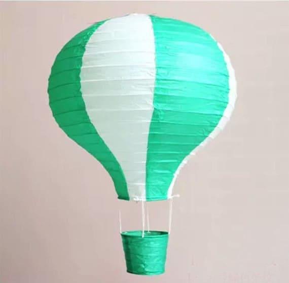 Hot Air Balloon Hot Air Balloons Decorations Green White