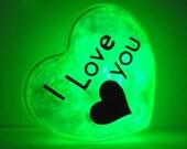GlowHeart (I love you)- cool, gadgets, geek, gift for him, husband, wife, boyfriend, birthday, valentine's day