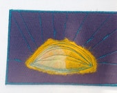 Sunburst- fabric postcard