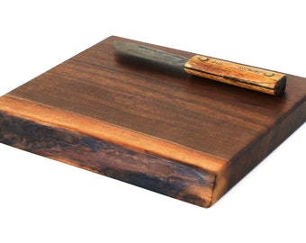 "Wood Cheese Board - Black Walnut - Ready to Ship - 11""x9""x1-1/4"""