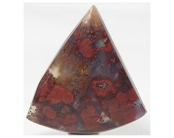Red Plume agate semiprecious stone Cabochon, Woodward Ranch Texas,  Bouquet Agate Polished Craft Gem, Red Mineral moss in Silica Gemstone