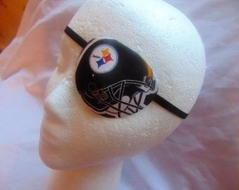 Adult unisex handmade Pittsburgh Steelers eye patches. Two styles/health beauty/sport eye patch/eye care/cataract aid/eye health,