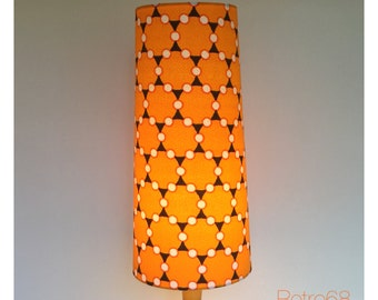 Vintage 1970s Yellow Fabric Conical Lamp Shade Fat Lava 60s 70s