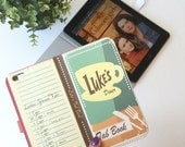Book phone /iPhone flip Wallet case- Gilmore Girls- Lukes diner iPhone 4, 5, 6, 7Samsung Galaxy S6, S7, edge, S5 S4 S3, Note 3, 4