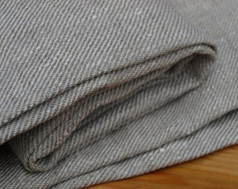 "Linen Bath Towel 34""x56 1/2"" Natural Grey Sauna Towel Spa Towel Washed Vintage Look"
