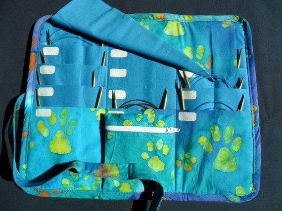 Knitting Organizer Case : Circular knitting needle organizer case storage holder holds