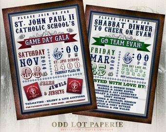 Football Invitation, Superbowl Invitation, Superbowl Party, Sports Invitation, Birthday Party Invite, DIY Printable Football Invitation