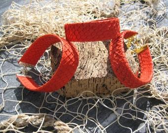 Salmonleather bracelet