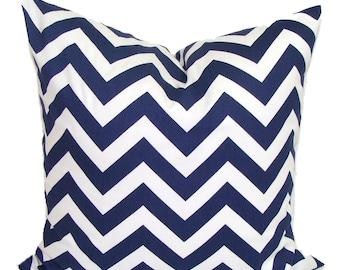 NAVY Chevron PILLOW Sale.18x18 inch.Pillow Cover.Decorative Pillow.Navy Blue Pillow Cover.Housewares.Home Decor.Chevron.ZigZag. Blue Cushion