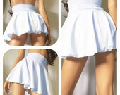 MARILYN- high waisted skirted bikini, plus size swimwear, high waisted retro bikinis, pin up modest swimwear, skirt bikini, peplum bikini