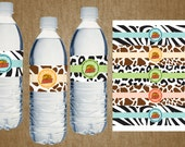 Wild Kratts Birthday Party Water Bottle Labels - Boy - Custom Name - DIY Self Printable File Only