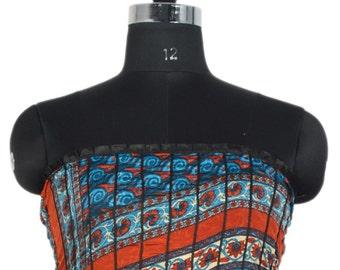 Vintage Up-cycle Silky Sari Maxi Sun Dress India DY23
