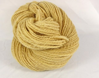 Eucalyptus naturally dyed 2 ply merino Hand spun yarn naturally dyed with  eucalyptus leaves. Pure merino wool.