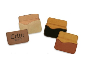 Rawhide or Leatherette Business Card Case