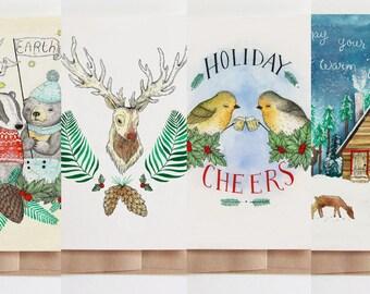 Holiday Card 4 Set