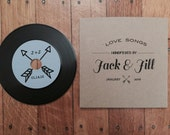 70 Vinyl Record Styled CD and Kraft CD Sleeve