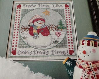 P - SNOWTIME - Cross Stitch Pattern Only