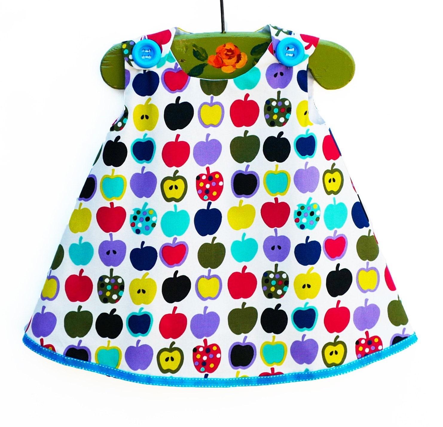 Apples Baby Spring Dress Newborn Rainbow Apple Aline Dress
