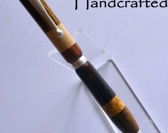 hq - Keen Handcrafted Handmade Segmented Satin Pearl Slimline Pen