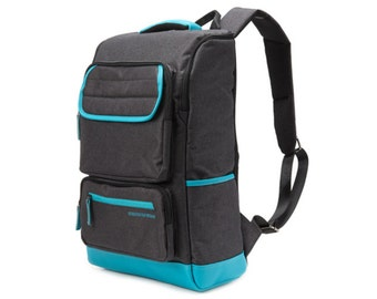 Line Point Backpack  (Turquoise line)