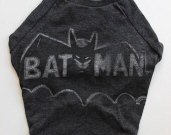 Upcycled Dog T-Shirt - Batman