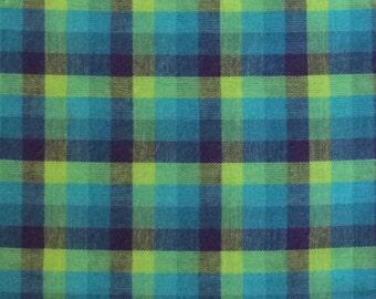 Dan Rivers Plaid Cotton Fabric / Vintage Plaid Cotton Fabric 1 Yard