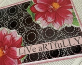 All Occasion Card Collage One of a Kind Blank Inside Dahlias Live Artfully