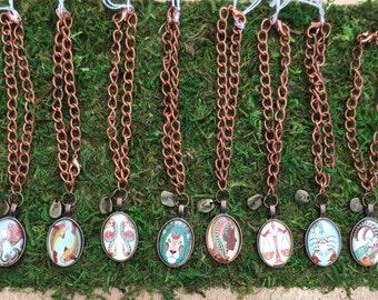 Astrological sign horoscope bracelets zodiac charm unisex gender neutral zodiac vintage brass bracelets