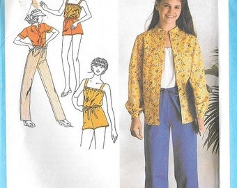 "Vintage 1979 Young Junior Teens Shirt Camisole and Pants or Shorts Simplicity 9050 Sewing Pattern Sz 9/10 Bust 30 1/2"" Misses Girls Woman"