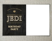 Jedi Training Academy Party Thank You Cards | Star Wars Birthday Party Printables | The Force Awakens Blank Thank You Cards | Movie Birthday