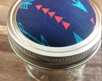 Arrows pincushion jar