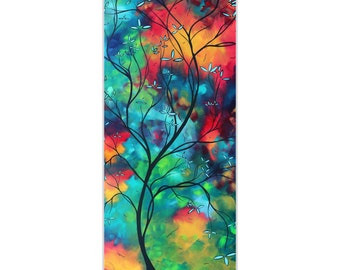 Landscape Painting 'Colored Inspiration' by Megan Duncanson - Abstract Tree Art Whimsical Artwork on Metal or Acrylic