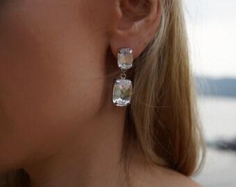 Madeleine - Elegant Bridal Swarovski Crystals Statement Earrings