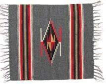 Antique Native American Weaving, Chimayo Saltillo, Rio Grande Style, Pillow Size Sampler, New Mexico, Southwestern, Western, Rustic, Tribal