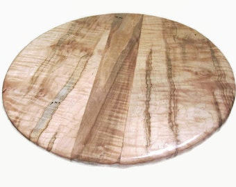 Ambrosia Maple Lazy Susan, Wood Lazy Susan, Rustic Lazy Susan, 16 inch Lazy Susan, Wooden Turntable
