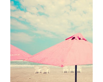 Beach art, large wall art, beach photography, large art, beach print, turquoise, pink, coral, beach wall art, beach prints, wall art
